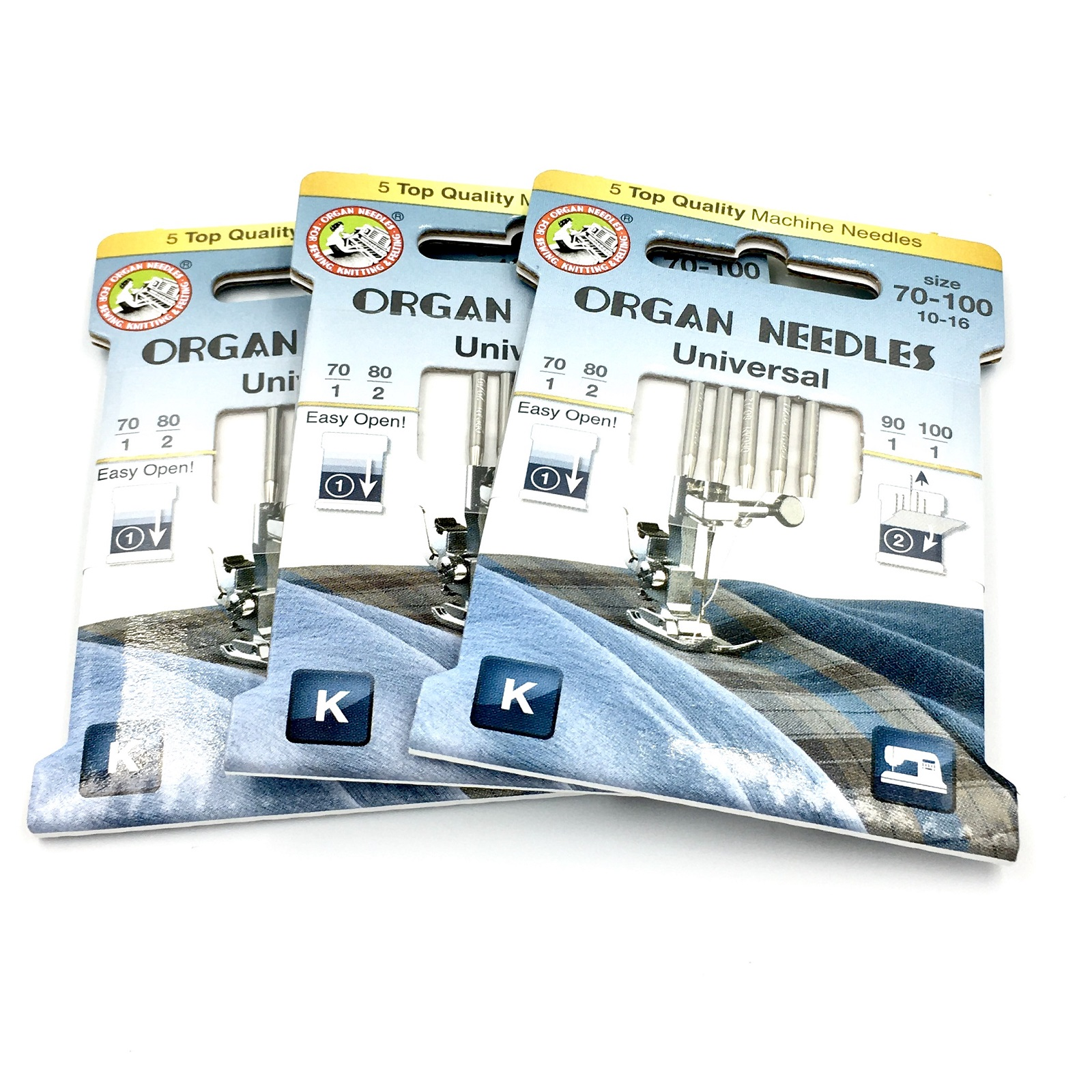 Organ ECO Domestic Needles 130/705H (3 x 5 pack - assorted)